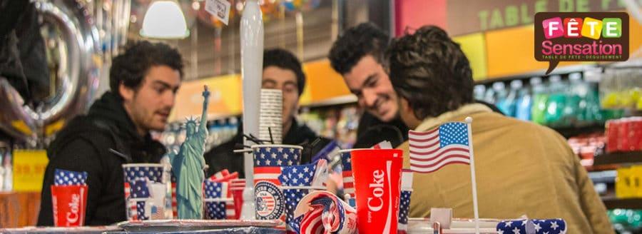 Table et déco thème Amérique - USA