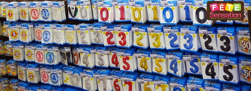 Ballons forme de chiffres