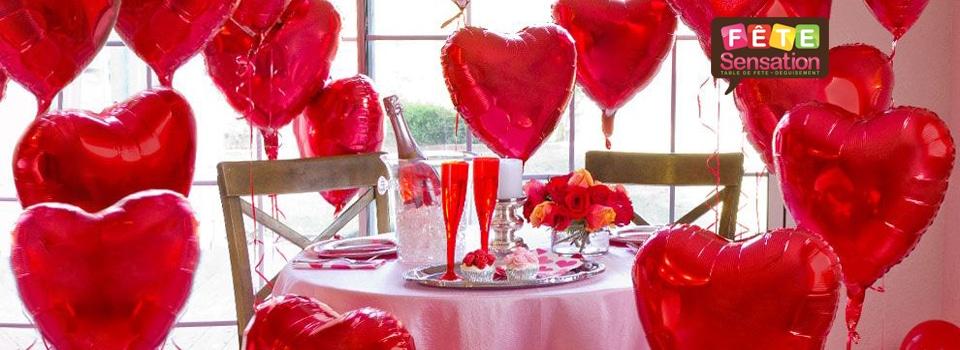 Déco de ballons coeur st Valentin