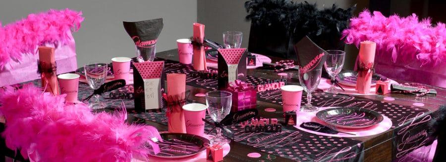 Table thème Glamour Burlesque