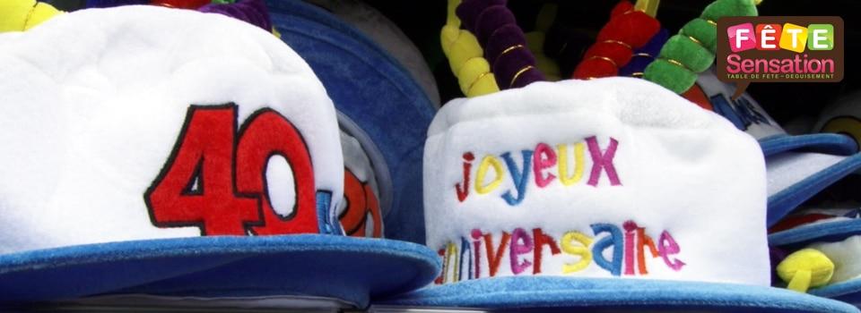 Chapeaux Joyeux Anniversaire