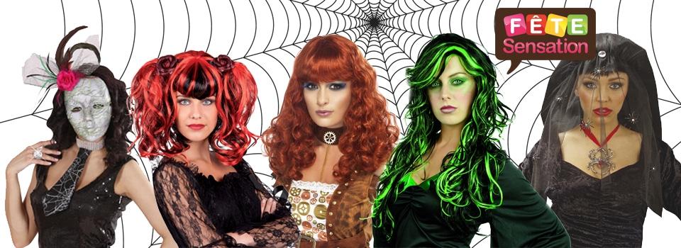 Perruque maquillage et masques gothique Halloween