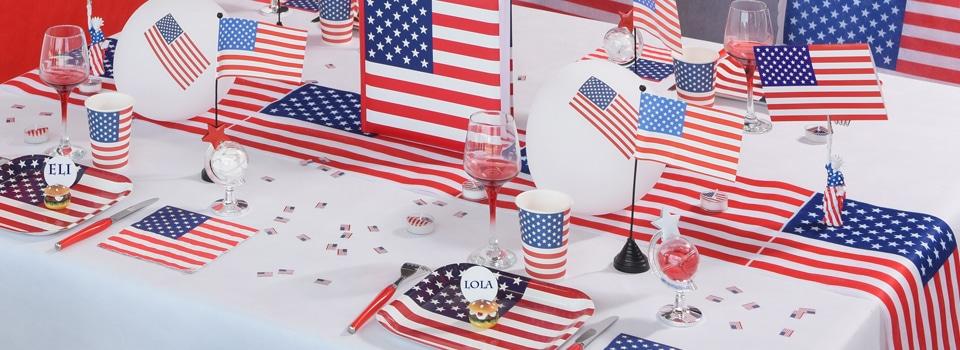Table et déco Thème USA
