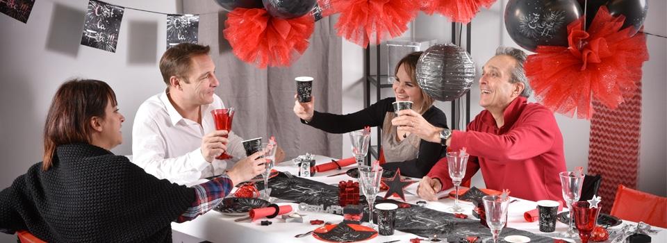 Déco de table de fête de fin d'année