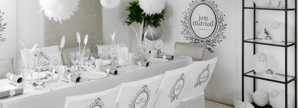 Table de mariage blanc