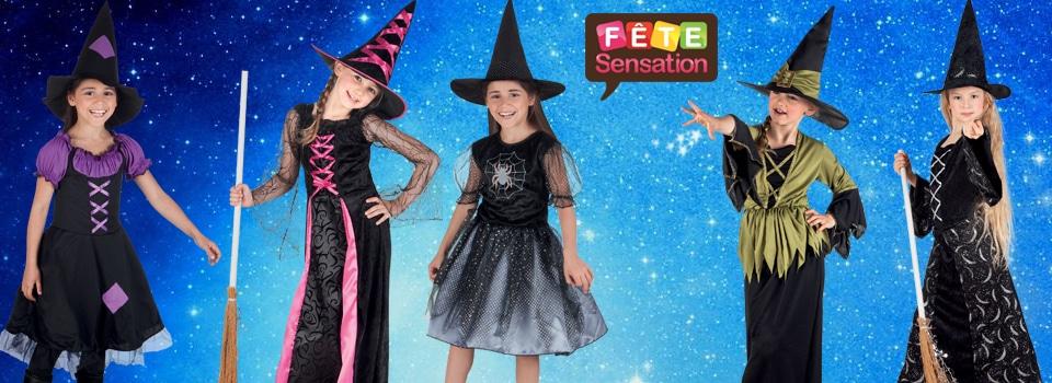 Déguisement sorcière enfants