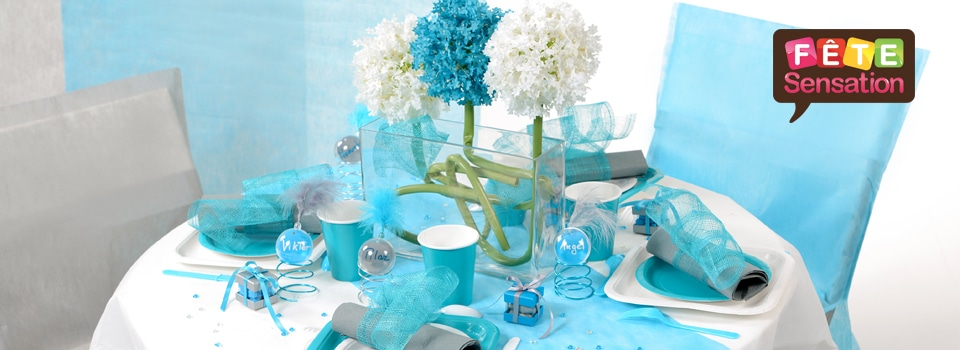 Table bleue turquoise