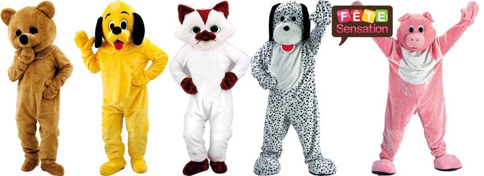 Déguisement mascotte animaux