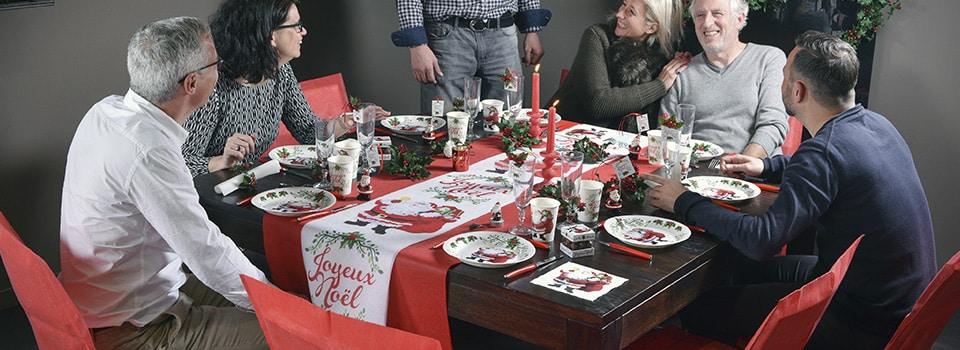 Table et déco de Noël