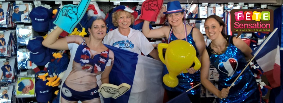 Equipe supportrices bleu blanc rouge