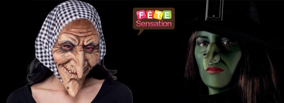 Masque et maquillage sorcière