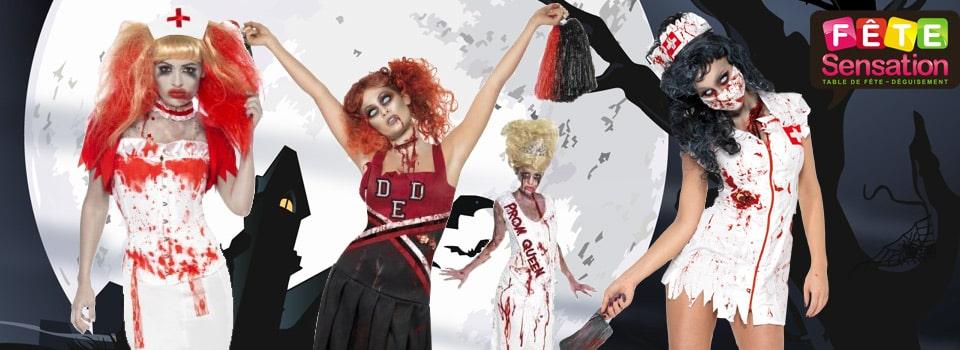 déguisement Zombie mort vivant femme