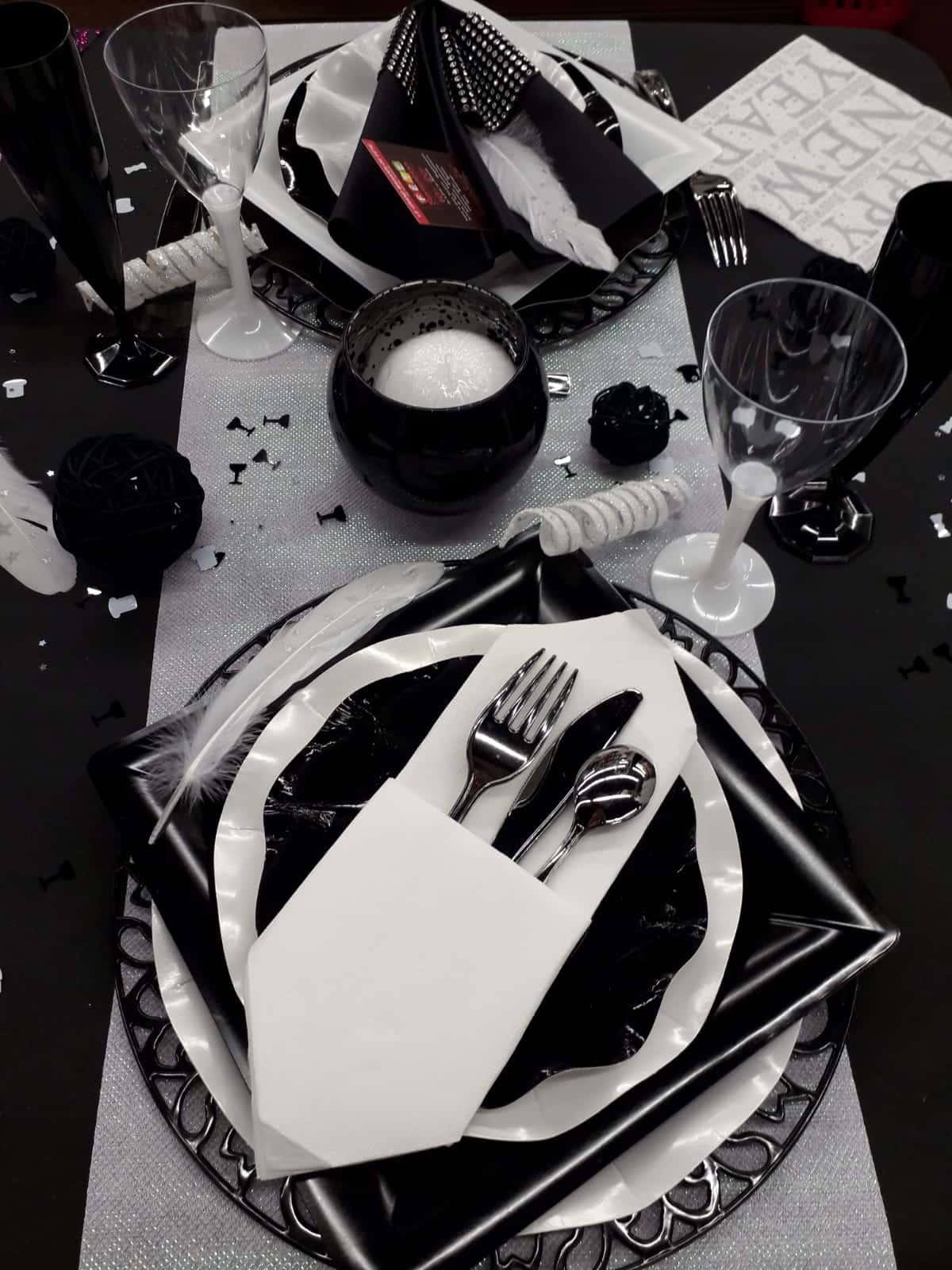 Merveilleux Table Et Décoration Festives Pour Le Nouvel An