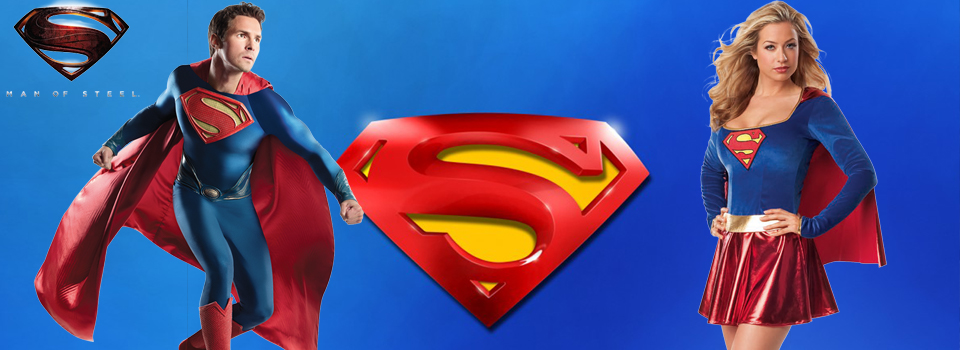 Déguisements de Superman et Superwoman