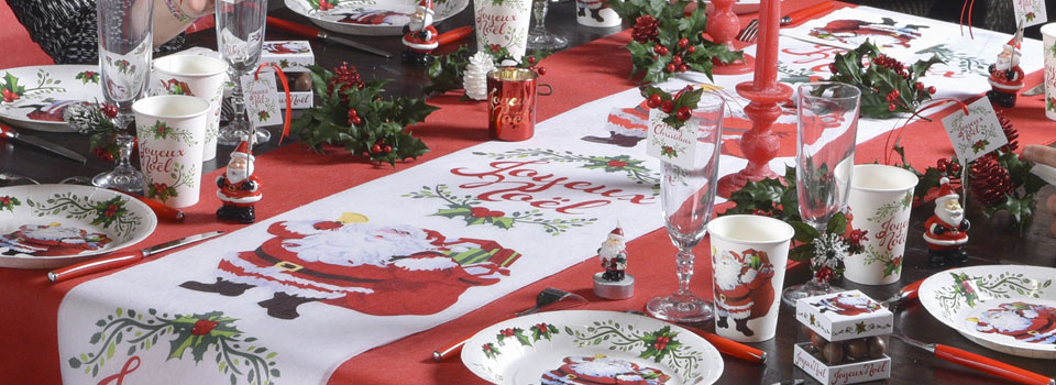 Déco de table de Noël