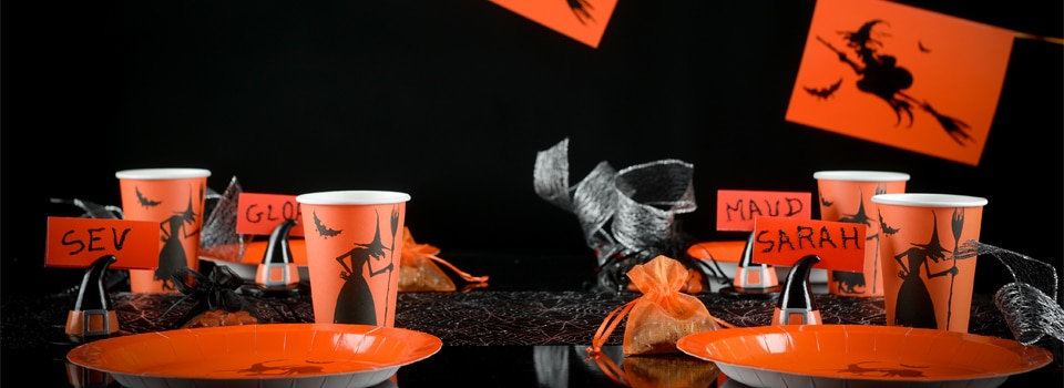 Table et déco Halloween Noir et Orange
