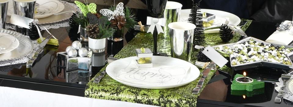 id es de tables th me no l nouvel an anniversaire halloween. Black Bedroom Furniture Sets. Home Design Ideas
