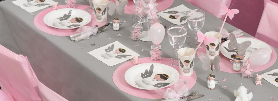Id es de tables th me no l nouvel an anniversaire halloween - Idee deco table bapteme fille ...