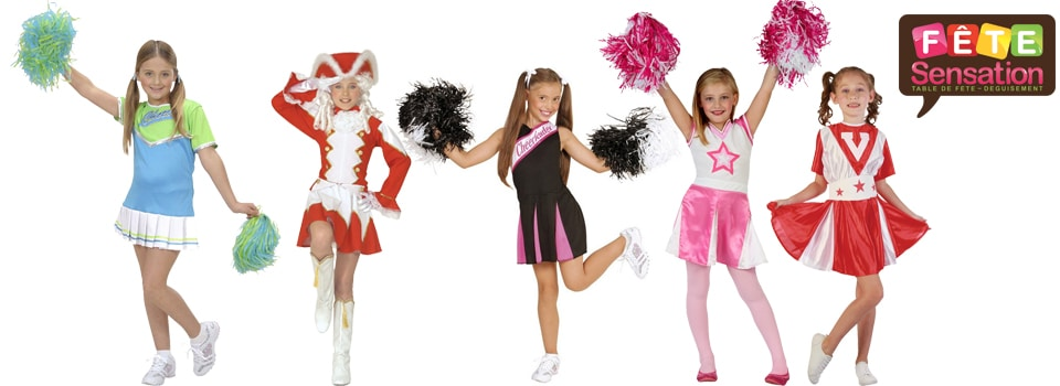 Pom Pom Girls Majorette Cheer Leader