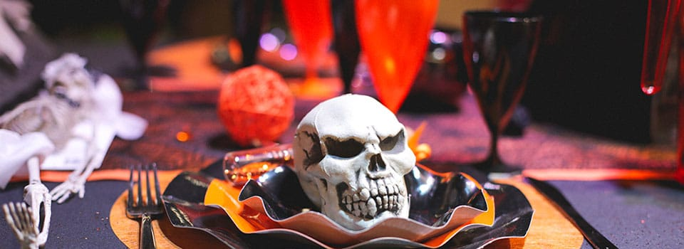 Table et déco Halloween