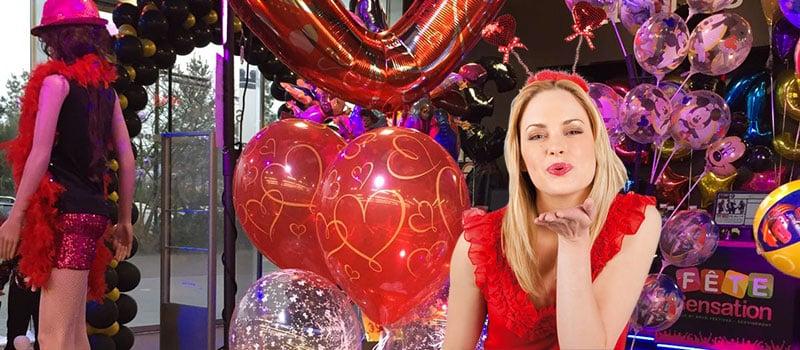 Ballons St Valentin - Coeur et rouge