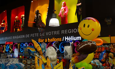 Bar à ballons et Helium - Magasin Fête Sensation Metz Waves