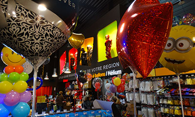 Bar à ballons - Magasin Fête Sensation Lyon Sud
