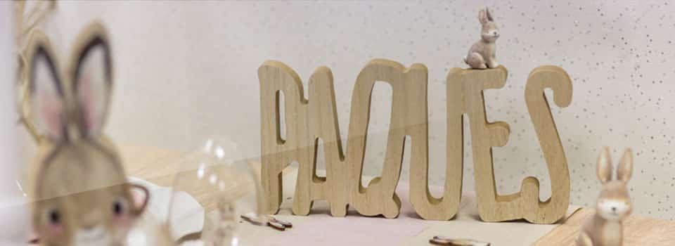 Pâques, décoration de table